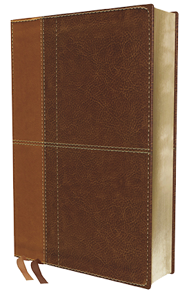 NIV Life Application Study Bible brown leathersoft