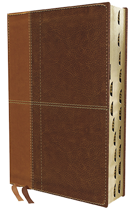NIV Life Application Study Bible brown leathersoft indexed