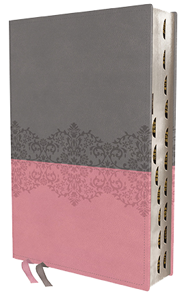 NIV Life Application Study Bible pink-grey leathersoft indexed