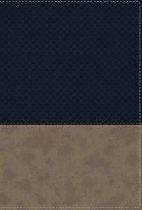 NIV Study Bible Navy/Tan Leathersoft