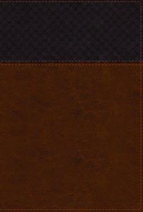 NIV Study Bible brown leathersoft large print