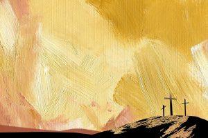 The cross, resurrection of Jesus