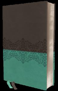 NIV Life Application Study Bible personal size gray teal