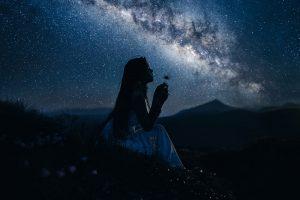 Young woman seeking God
